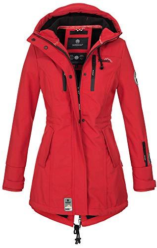 Marikoo Damen Winter Jacke Winterjacke Mantel Outdoor wasserabweisend Softshell B614 [B614-Zimt-Rot-Gr.S] Parka Mantel