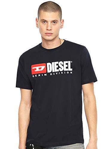 Diesel Herren T-JUST-Division T-SH T-Shirt, Blau (Navy 81e), Large (Herstellergröße: L) -