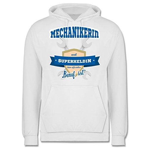 Handwerk - Mechanikerin - weil Superheldin kein offizieller Beruf ist - Männer Premium Kapuzenpullover / Hoodie Weiß
