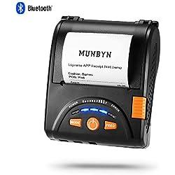 【Mise à niveau 2.0】Imprimante Thermique sans Fil Imprimante à Reçu Thermique Bluetooth MUNBYN 58mm Papier pour Android iPhone iPad avec Batterie Rechargeable ESC/POS