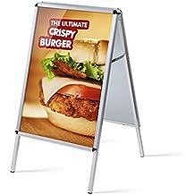 TOPARTIKEL: A1 Kundenstopper schwer und wetterfest, Metallrückwand, Plakatständer Kundenstopper A1 beidseitg mit Schutzfolien