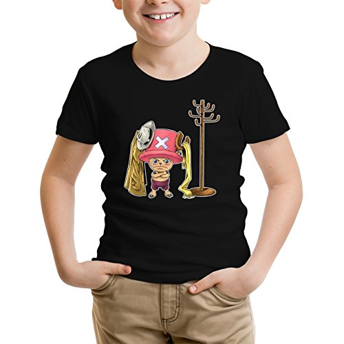 T-Shirt Enfant Noir One Piece parodique Tony Tony Chopper : Un Pirate complètement cintré. : (Parodie One Piece)