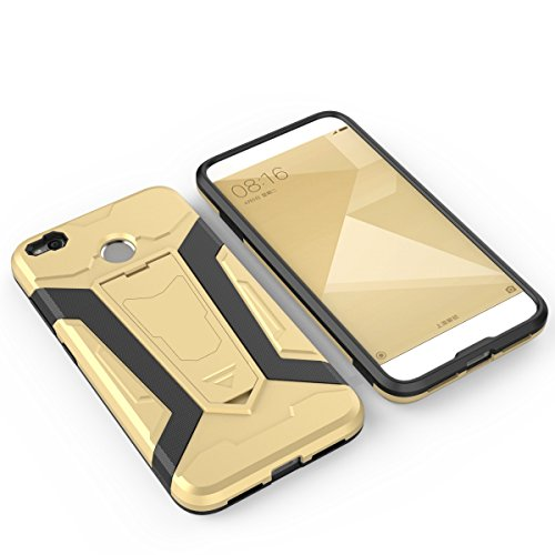 HongMi Note 4X Hülle,EVERGREENBUYING Abnehmbare Hybrid Schein Hongmi MBE6A5 Tasche Ultra-dünne Schutzhülle Case Cover mit Ständer Etui für XIAOMI RedMi Note 4X Braun Grau
