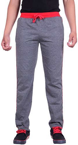 DFH Men's Relaxed Fit Casual Trousers (MPDG2_L_Dark Grey_L)