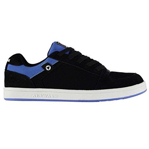 Airwalk Herren Brock Skate Schuhe Turnschuhe Skateboarding Sneaker Flexkerben Schwarz/Blau 10 (44) (Skate Leder Schuhe Schwarz)