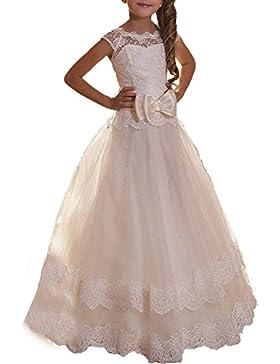 VIPbridal Vestido de la primera comunión de los vestidos de las muchachas de flor del cordón