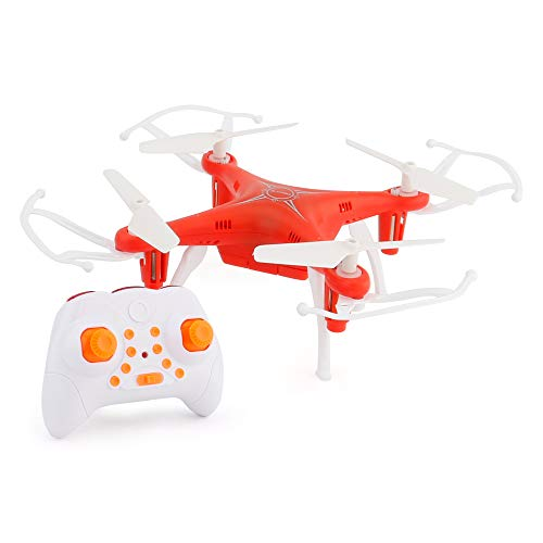 Drone/Helicopter Wireless Remote Control Children ' S Toy Small Size Easy to Carry One-Touch Funktion 3D Scrolling Headless Mode Aircraft,Red (Easy Helicopter Remote Control)