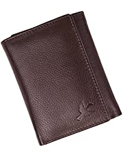 HORNBULL Trifold Brown Men's Genuine Leather Wallet