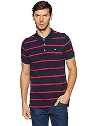 Amazon Brand - House & Shields Men's StripedRegular Fit Polo