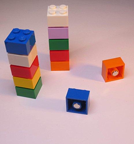 Magnet-Bausteine für Pinnwand, Magnettafel oder Kühlschrank / Lern-Magnete, Neodym-Magnete, bunt, 10 Stück (Thermische Kreditkarte Papier)