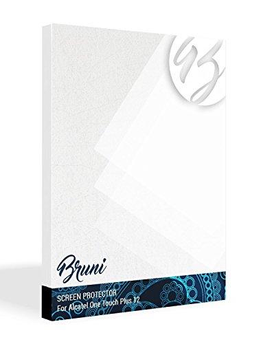 Bruni Schutzfolie für Alcatel One Touch Plus 12 Folie, glasklare Displayschutzfolie (2X)
