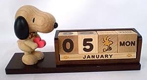 New Peanuts Snoopy en bois perpétuel Calendrier de bureau Sanrio Bois Intérieur de bureau