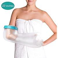 Funda Impermeable para brazo para adultos para ducha y baño, Reutilizable, Sellada, ermética, Para mantener las vendas secas, ligeras, Nuevas angas Fundidas para heridas y Quemaduras de Cirugía