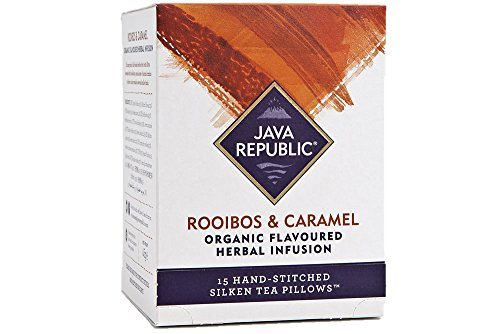 Java Republic Rooibos and Caramel Organic Infusion Tea, 15 Tea Bags (1 Box)