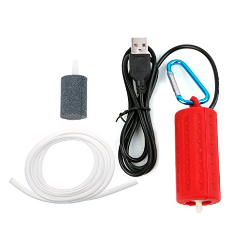 VAILANG Tragbare Mini USB Aquarium Sauerstoff Luftpumpe Stumm Energiesparende Kompressor Aquarium Luftpumpe Rose