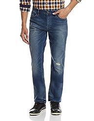 Calvin Klein Mens Slim Fit Jeans (036182045546_4ASAB24_28W x 32L_Blue)
