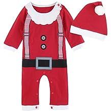 Mombebe Bebé Niños Disfraz Navidad Duende De Navidad Mameluco ...