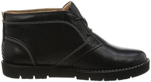 CLARKS Clarks Womens Boot Un Astin Navy Suede Black Leather