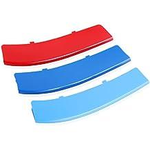 Plástico nieren parrilla enfriador para tiras Stripe para BMW F10F115Series 528i 535i 550i with M de Performance Black Kidney Barbacoa (12beams)