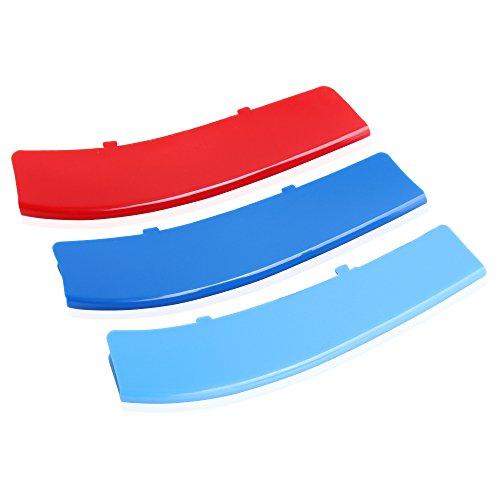 Preisvergleich Produktbild Plastik Nieren Grill Kühlergrill Streifen Stripe für BMW F10 F11 5 Series 528i 535i 550i with M-Performance Black Kidney Grill (12 Beams)