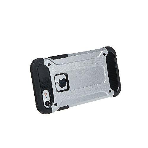 """xhorizon Double Couche Plastique Dur PC TPU DOUX Mélangé Antichoc Couverture de Protection Lourde pour iPhone 7[4.7""""] #3 +9H Glass Tempered Film"""