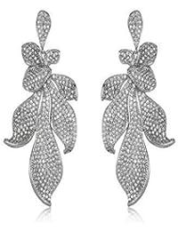 SHAZE Silver Flower Earrings|Earrings For Women|Earrings For Women Stylish