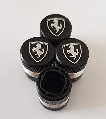 Speed Demon Ferrari Schwarze Lasergravierte Staubkappen für alle Modelle Fahrzeuge mit Kunststoff-Innenseiten Antihaftventile