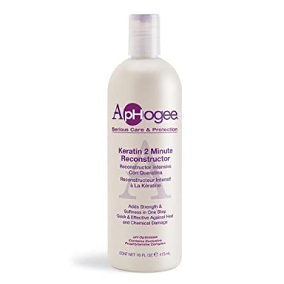APHOGEE Intensive Two Minute Keratin Reconstructor Restores Softness & Elasticity & Repairs Damaged Hair 16oz/473ml from Aphogee