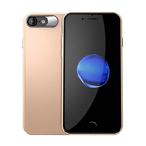 Kobwa Anti-Fingerprints Case Ultra Thin für IPhone 7/7 Plus, Shock Absorbing Kratzer-Resistant Stoßdämpfer Slim Fit Cover mit Beschichteter Oberfläche Voller Schutz Sturdy PC Case für IPhone 7/7 Plus iPhone7 Golden