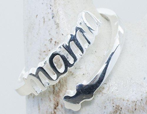 Anillo de Plata de 1º LEy 925. Corte láser anillo MAMÁ