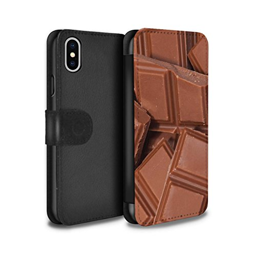 Stuff4 Coque/Etui/Housse Cuir PU Case/Cover pour Apple iPhone X/10 / Pack 10pcs Design / Nourriture Collection Chocolat
