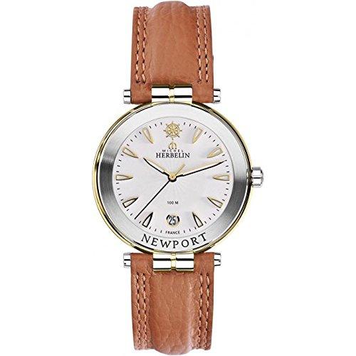 Men's Watch–Michel Herbelin–Newport Yacht Club–Leather Strap–12255/T11GO