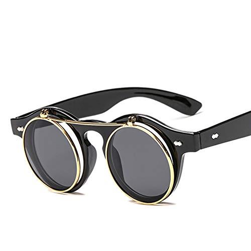 LIUYIAO Flip Round Frame Sonnenbrillen Fashion Sonnenbrillen Rice Nail Brillen Retro Sonnenbrillen Beach Vacation Geeignet Für Handsome Guys