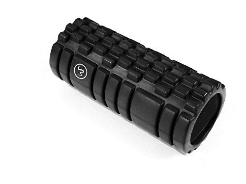 FA Sports Mamba Concept Roller Hohle Premium-Faszienrolle aus Schaumstoff für Massage und Training, Unisex, Erwachsene, Härtegrad Hart, 14 x 14 x 33cm, Schwarz