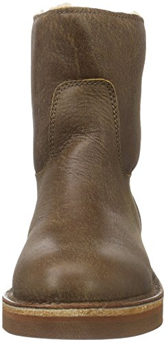 Shabbies Amsterdam Shabbies Ladies Short Boot 16cm With Real Wool Lining Alissa Matching Sole, Bottes Classiques femme Marron - Braun (Africa)