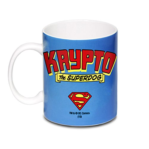DC Comics - Superman - Krypto the Superdog Porzellan Tasse - Kaffeebecher - blau - Lizenziertes Originaldesign - LOGOSHIRT - 3