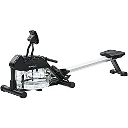Skandika Nemo II SF 1970, Water Rowing Machine Rowing Machine with Adjustable Water Resistance Folding with Heart Rate Pulse, 150kg User Weight