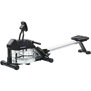 skandika Wasser Rudergerät Nemo II/III, Water Ruderzugmaschine mit regulierbarem Wasserwiderstand, klappbar, Rower mit 150 kg Benutzergewicht