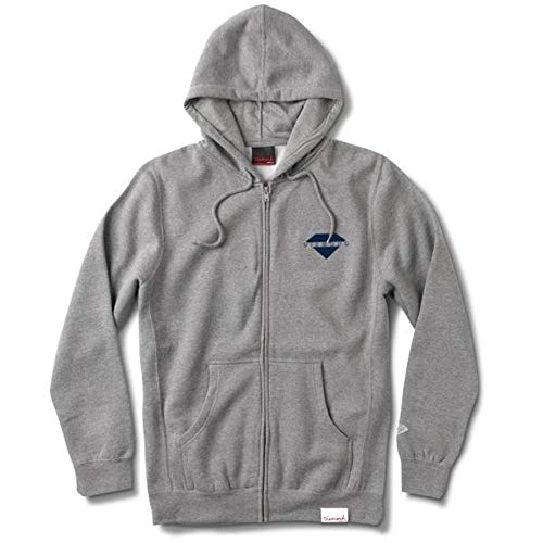 Diamond Supply Co. Viewpoint Zip Hoodie Heather Grey Diamond Zip Hoodie