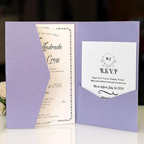 10pcs Einladungskarten Hochzeitseinladungskarten Kartenpapier für Hochzeit Geburtstag Dusche Party Einladungskarten