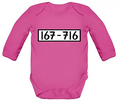 rkleidung Strampler Bio Baumwoll Baby Body langarm für PANZERKNACKER Fans, Größe: 3 - 6 Monate,Fuchsia (Mädchen Minion Geburtstag Party)
