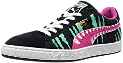 Puma Mens Suede Chemical Comic Black and Beetroot Purple Leather Boat Shoes - 10UK/India (44.5EU)