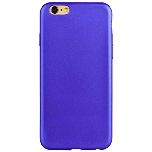 GrandEver iPhone 6 Hülle, iPhone 6S Hülle Silikon Schutzhülle Einfarbig Serie Flexible TPU Gel Schutz Klar Handytasche Anti-Kratzer Stoßdämpfung Ultra Slim Matte Rückseite Silicon Case Backcover Prote Blau