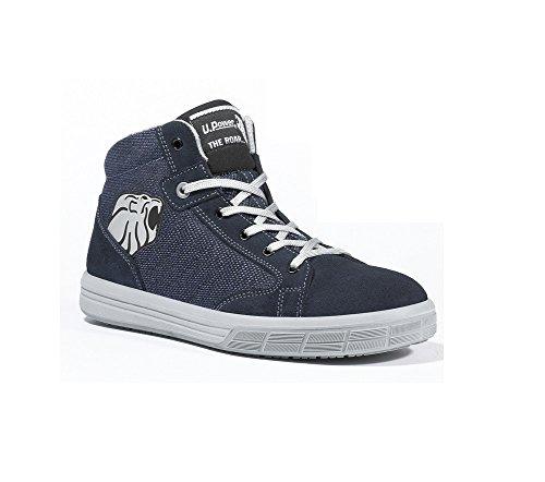 Chaussures de Sécurité Basket Montante S1P SRC Bleu Foncé/blanc