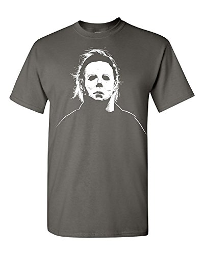 es Michael Myers Halloween Movie Mask Men's T-Shirt SHIPS FROM OHIO USA ()