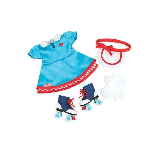 Nuestra Generación 70.60013(Soda Pop Sweetheart Deluxe Retro muñeca Outfit