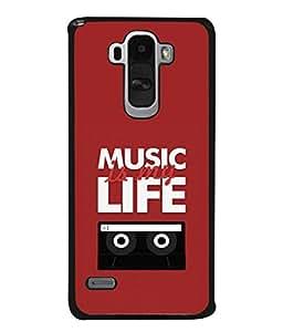 PrintVisa Designer Back Case Cover for LG G4 Stylus :: LG G4 Stylus H630D H631 H540 (Music Life Cassette CDs Compact Disk)