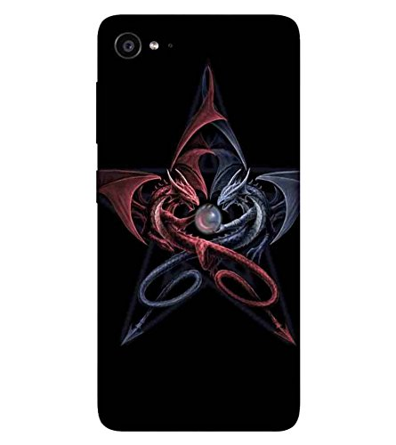 CHAPLOOS For Lenovo ZUK Z2 :: Lenovo Zuk Z2 Plus dangerous cartoon, cartoon, black background Designer Printed High Quality Smooth Matte Protective Mobile Case Back Pouch Cover by APEX