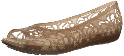 crocs Isabella Jelly Flat Women, Damen Geschlossene Ballerinas, Gold (Bronze), 37-38 EU (Jelly-ballerinas)