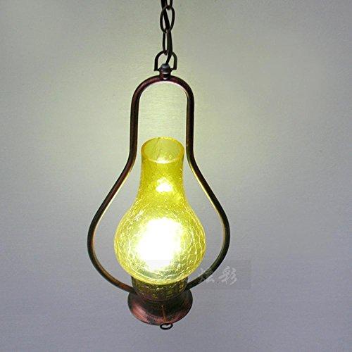 CcCoCc Retro Nostalgie LED Lampen Kreative Eisen Laterne Kerosin Lampe Kronleuchter Push Button Schalter (ohne Lichtquelle) -